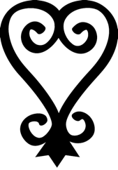 """Adinkra symbol """"sankofa"""" which represents learning from the past."""