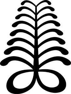 "Adinkra symbol ""aya."" This ""fern"" is a symbol of endurance and resourcefulness."