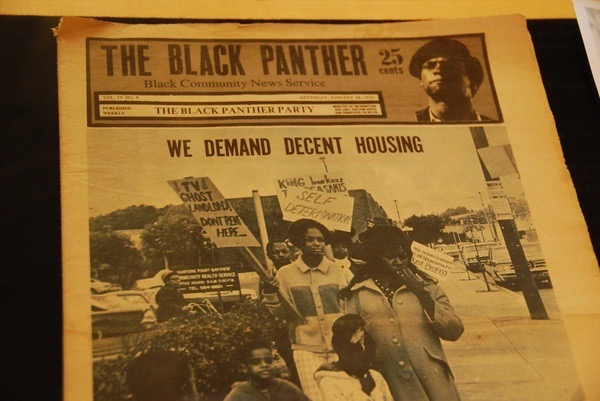 """Image of The Black Panther newspaper with headline """"We Demand Decent Housing"""""""